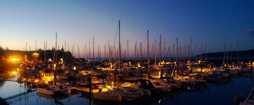 Sunset at John Wayne Marina