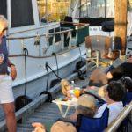 Socializing at the docks