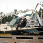 Skipper Catherine Bilyard taking a moment to relax