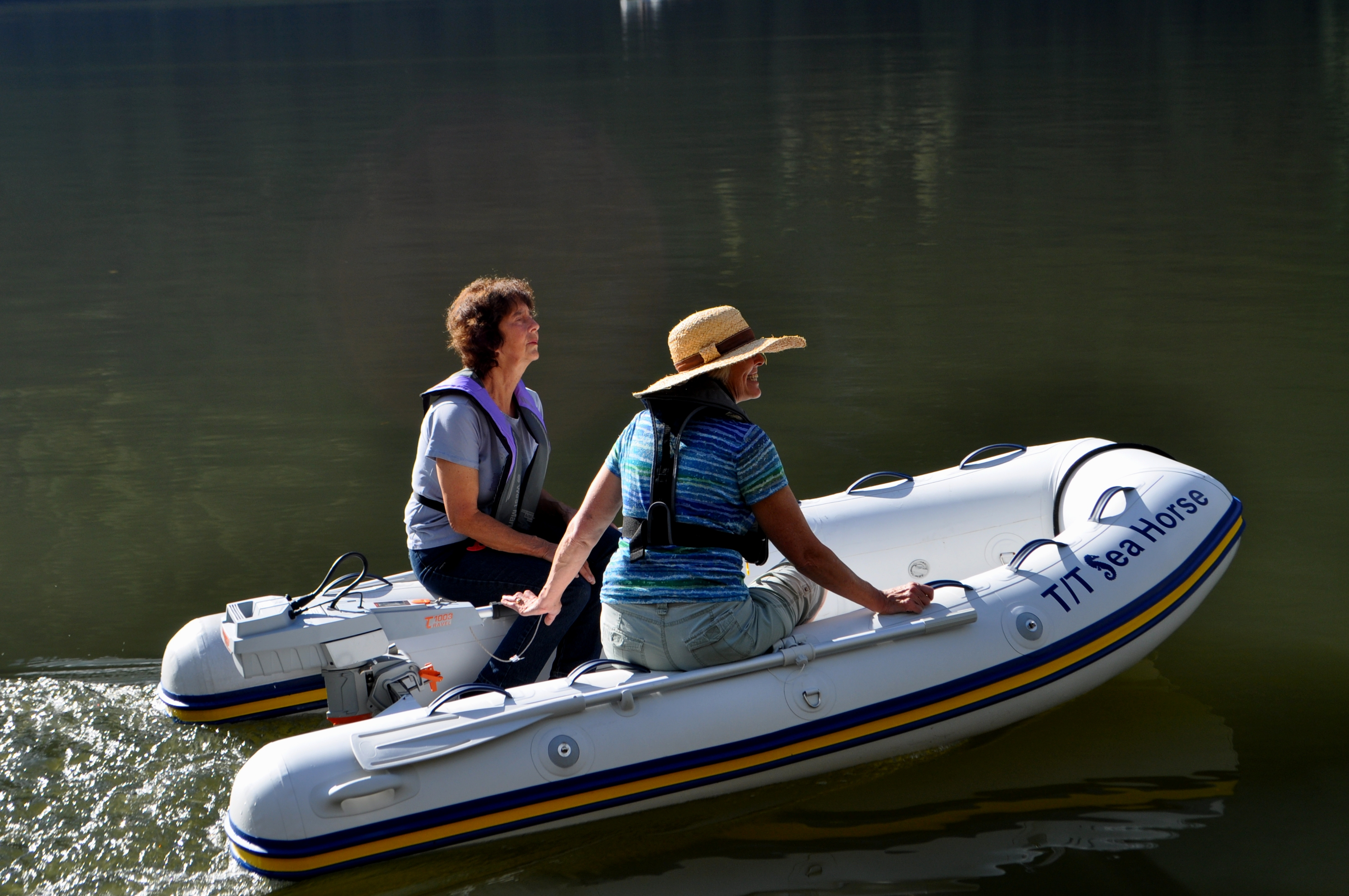 Sally Calkins & Julia exploring with the dinghy in Princess