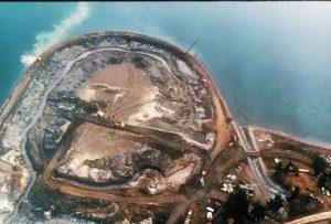 Building of the John Wayne Marina - photo credit to Sequim Museum & Arts Center