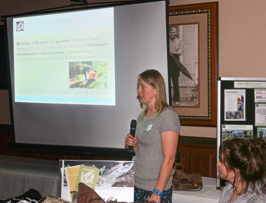 Kim Clark presenting