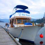 Blue Heron docked at Egmont