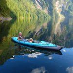 Patti Graft kayaking on idyllic waters