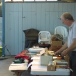 Martin looking over the items to bid on at the Silent Auction