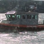 Each boat was boarded by the Coast Guard with brief inspection but to inform us they are there for us 24/7