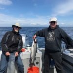 Al and his buddy with a nice Salmon Catch