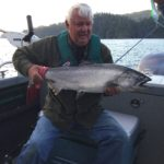 Al's buddy showing off their catch of the day! Sweet catch
