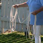 an attempt to throw a homemade heaving line