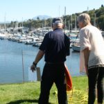 Julia receives instruction from Education Officer, Ray Thomas