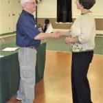 Sally C receiving Electronic Nav Certificate