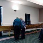 Dick & Grace admire Ted Shanks workmanship