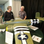 Ray T answering questions regarding his WWII RC model plane B-52 Bomber