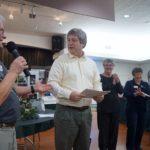 John Hauck  receiving Certificate