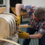 Gordon bending the steamed board