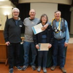 Randy & Diane Blackburn-Lappin receiving their Certificates of Successful Completion of Electronic Navigation