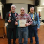 Intructors Randy Roberts & Gordon Bilyard present Duane Beland with his Successful COmpletion of Electronic Navigation