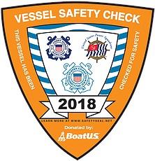 2018 Vessel Safety Sticker