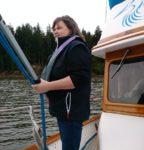 Nila Madsen Instructor on Blue Heron