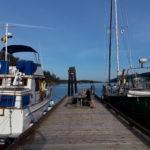 at Stuart Island floating dock