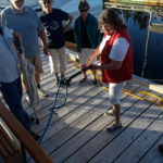 using the railing, demo how the hook & moor works so well